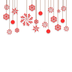 ftestickers christmas decoration snowflakes hanging freetoedit
