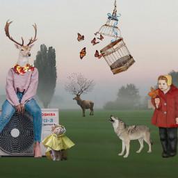 freetoedit surreal fairytale animal