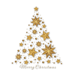 ftestickers christmas tree merrychristmas gold freetoedit
