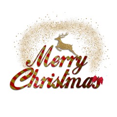 ftestickers christmas merrychristmas gold red freetoedit
