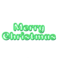 ftestickers typography merrychristmas luminous green freetoedit