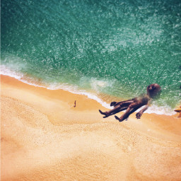 freetoedit ufo surreal sea beach