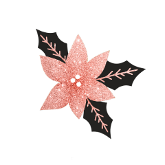 ftestickers christmas decoration flower rosegold freetoedit