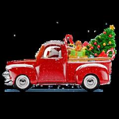 ftestickers watercolor truck christmastree vintage freetoedit