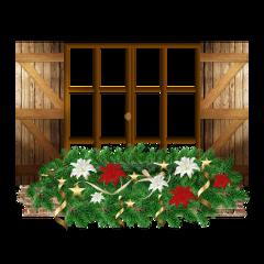 ftestickers window wooden christmas flowers freetoedit