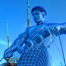 freetoedit docks fisherman statue man