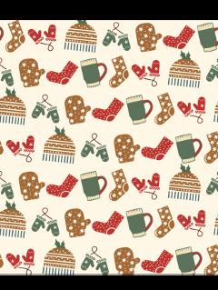 ftestickers background winter christmas pattern freetoedit