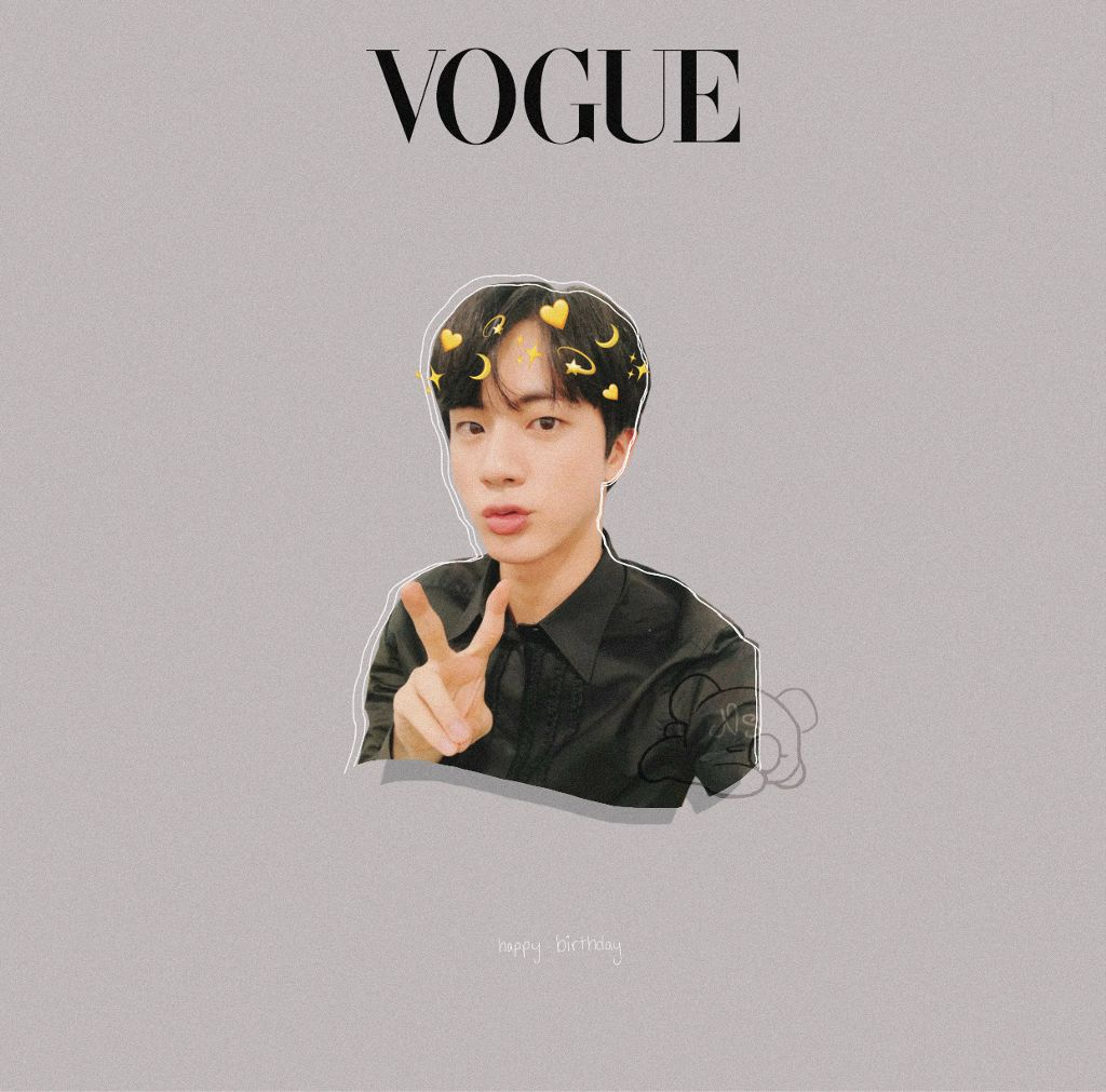 HAPPY BIRTHDAY WORLDWIDE HANDSOME!! . . this boy right here is such an amazing person, without him i dont know where i would be. 🙈🙈 . . #jin #seokjin #seokjinday #happyjinday #kpop #bts #birthday #vogue #cute #aesthetic