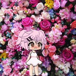 freetoedit gacha blush cute flowers