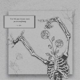 freetoedit growth growing skeleton flowers