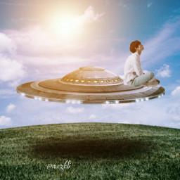 freetoedit ufo surreal madewithpicsart