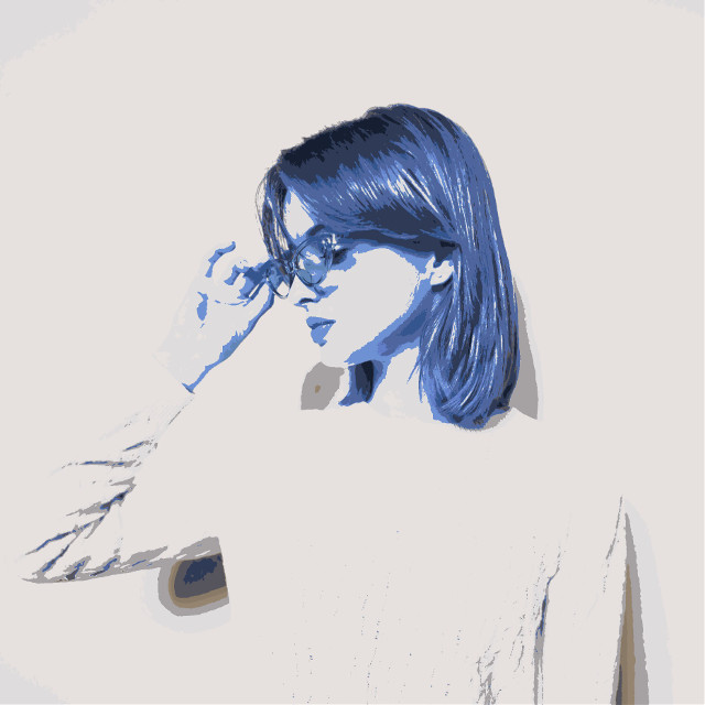 #freetoedit #girl #glasses #blue #cute #simple #nice