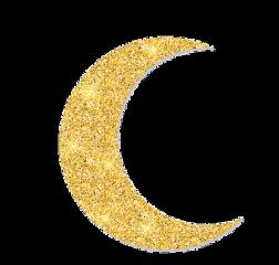 gold moon glitter ramadan freetoedit