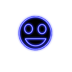 freetoedit happy happiness blue neon ftestickers