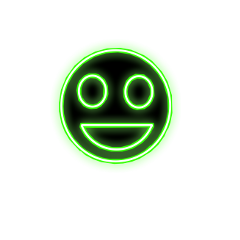happy happiness green neon face freetoedit ftestickers