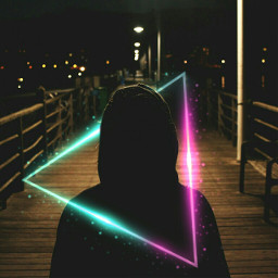 freetoedit triangle neon 4asno4i неон ftestickers scneons
