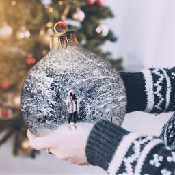 freetoedit winter christmas ornament