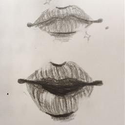 art practice lips
