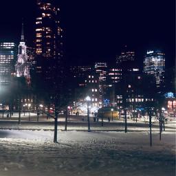 freetoedit christmaslights citylights snow festive