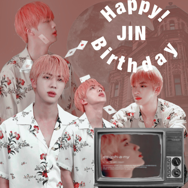 """HAPPY BIRTHDAY JINNIE   I Swear every moment i think of you i start loving life. You are literlly perfect. You are one of the most respectful people i have have seen. Instead of """"worldwide handsome"""" you fit """"Universal handsome"""" better. My standers in men have been RAISED because of YOU, i wish i could just wrap you up in a blanket and tell you how talented you are or how you light up my life but i cant! 😭 but its okay because i still have weverse 😎 HAPPY BIRTHDAY YOU ARE 27!! I will miss you very very very very much when you enlist but it will be okay cause i know you will be coming back :) Have fun Kim Seokjin. ♥️❤️🧡💛💚💙💜💗🖤🤍🤎                                   - Your future wife ;)"""