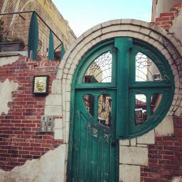 bluedoor greendoor oldphoto building photography