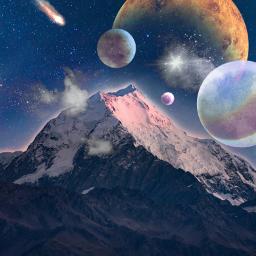 freetoedit space stars magic galaxy