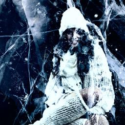 ice cold frozen creepy scary freetoedit ircicecrack icecrack