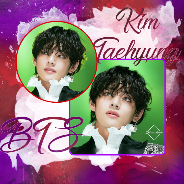 Thoughts? #v #taehyung #bts #kpop #beautiful #purple #red #green #freetoedit