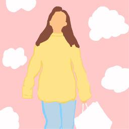 art shopping baggy hoodie clouds freetoedit school