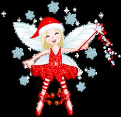 christmas fairy cute girl freetoedit