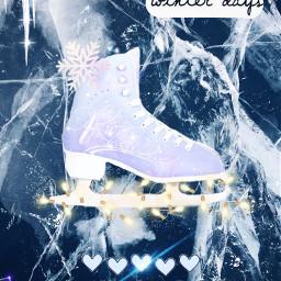 freetoedit snowflakes ice skate winter ircicecrack icecrack