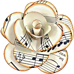 flower crafts diy rose music freetoedit