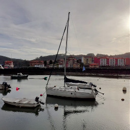 boats village sea