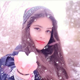 freetoedit snow snowbrush girl standing
