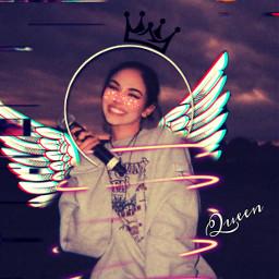 aestetic angelwings angel queen freetoedit