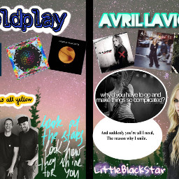 freetoedit avrillavigne coldplay