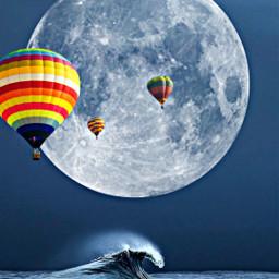 freetoedit moon sea mar globos