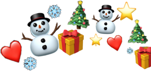 christmas crown emoji emojicrown winter freetoedit