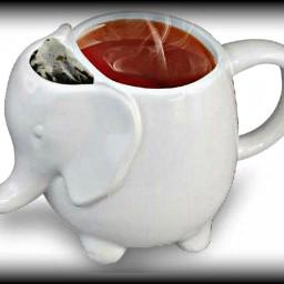 freetoedit white mug cup teabag