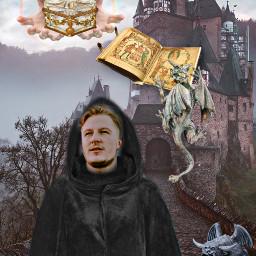 freetoedit medieval castle monk gargoyle