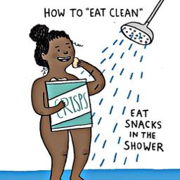 freetoedit girl shower chips bag