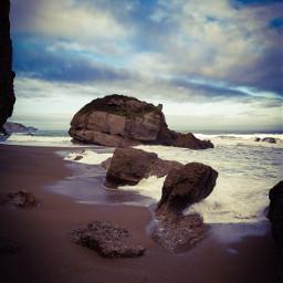 freetoedit beach cold sea photography