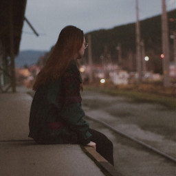 freetoedit trains night lonely picsart