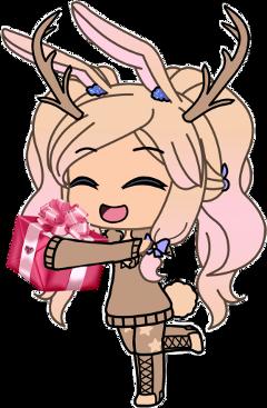 freetoedit christmas reindeer gacha girl