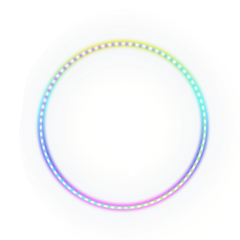ftestickers circle frame borders neon freetoedit