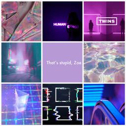 oc ocaesthetic moodboard neon purple