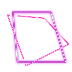 ftestickers square frame abstract neon freetoedit