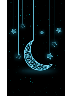 ftestickers background stars crescentmoon hanging freetoedit