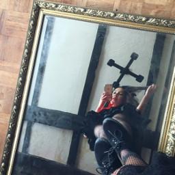 mirrorselfie mirror standing lookingdown floor freetoedit