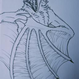drawing creepy dragon insane